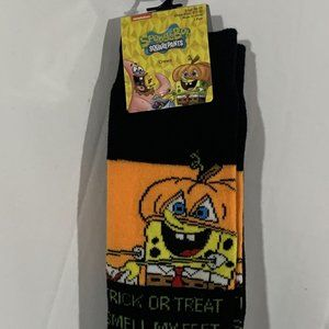 NWT Official Spongebob Square Pants Halloween Sock